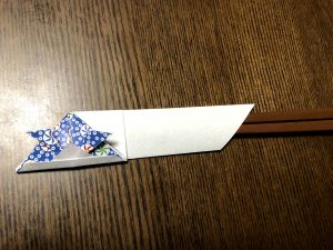 可愛いカブト箸袋の折り方写真1