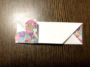 可愛いハート箸袋の折り方写真1