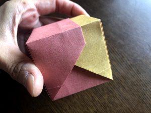 可愛い蓋付きBOXの折り方写真35