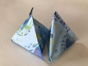 折り紙三角ラッピング写真10