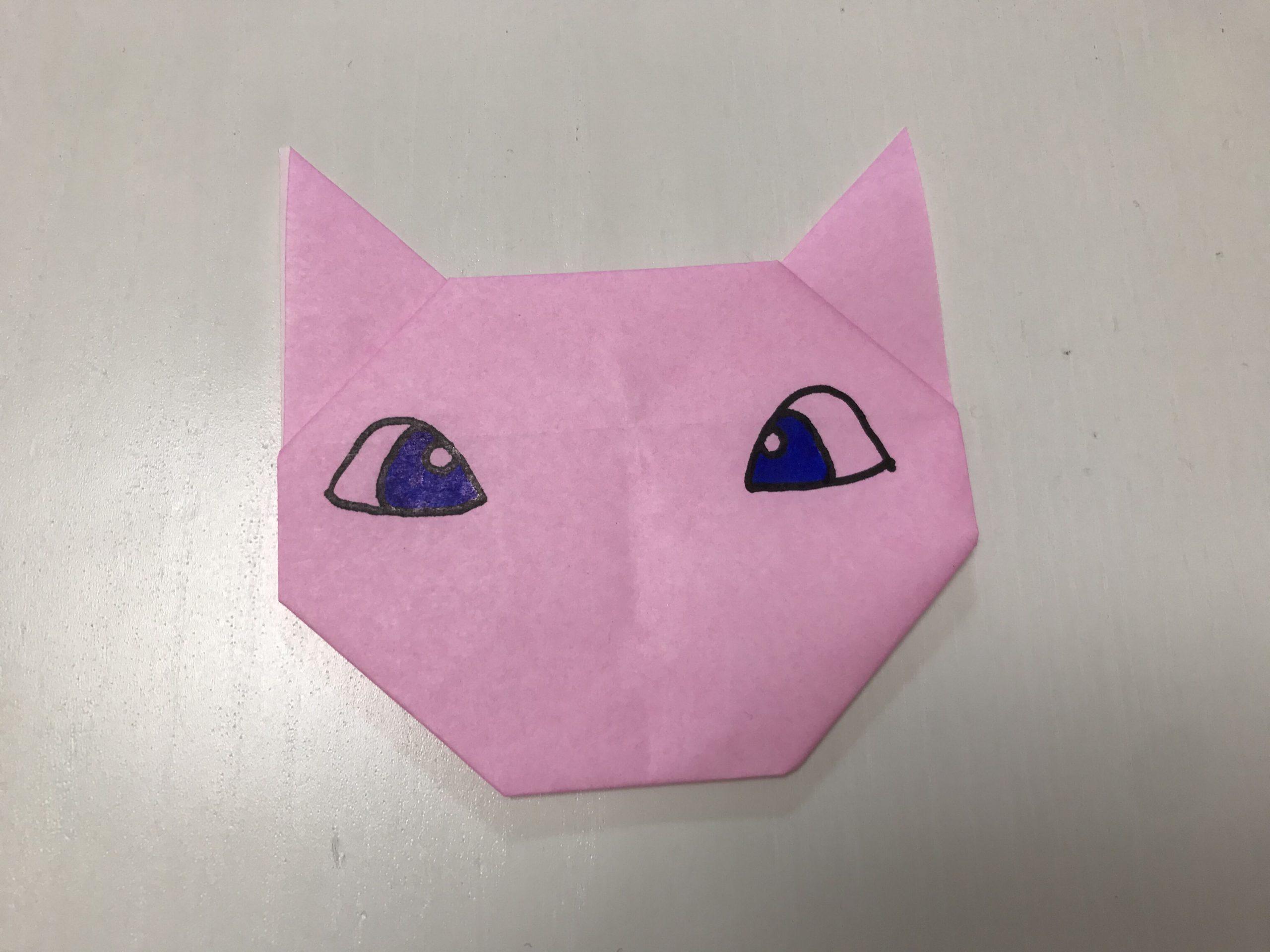 折り紙ミュウ折り方
